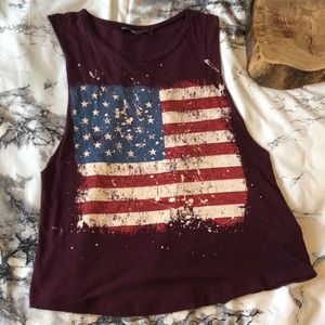 Rock Rose Couture LA American Flag Muscle Tank S